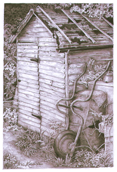 Ray Brown's shed, © 2009 Jess Knowles